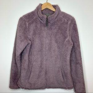 Cloudveil Sherpa Teddy Fleece Zip Up Jacket purple